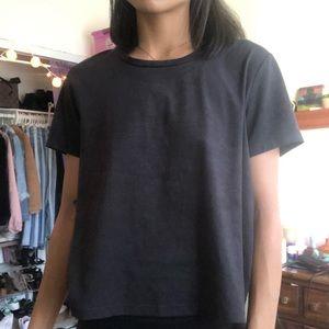 black suede top